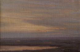 "Granville Redmond ""Twilight (Study) 1918"" 6 x 9 inches, oil on canvas/board -- Available!"